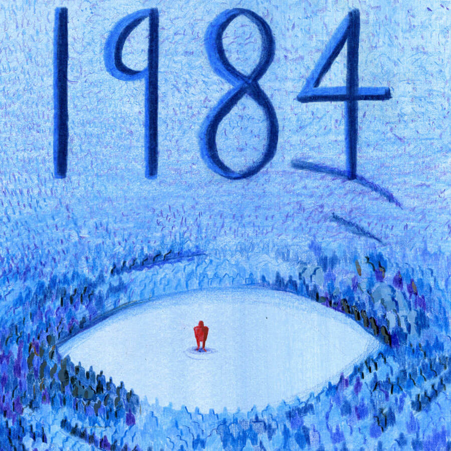 1984 Illustrated Book Cover