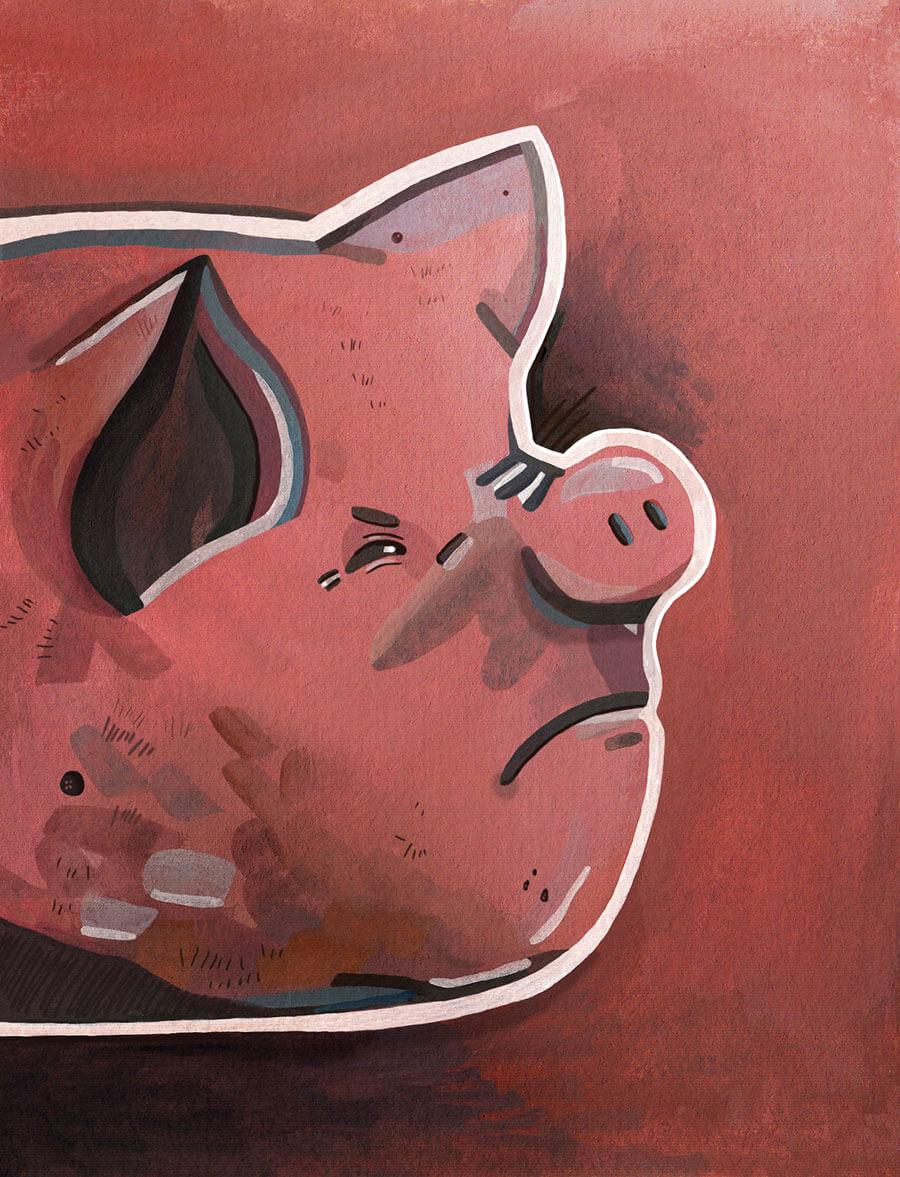 Haydn Symons Illustration Animal Farm