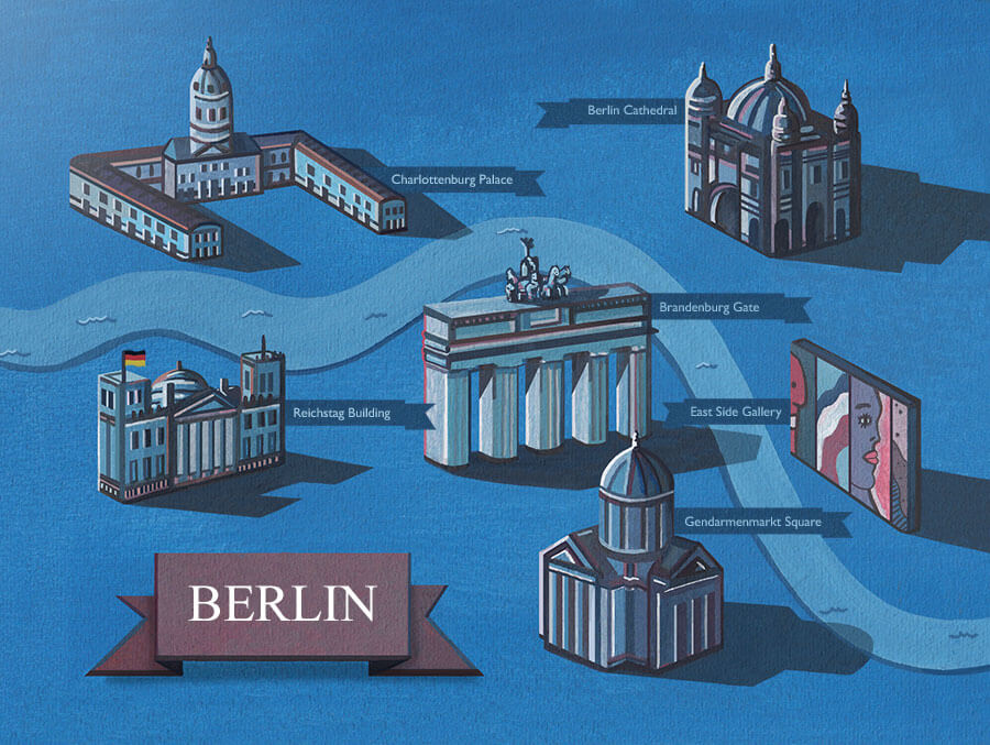 Berlin-map-illustration