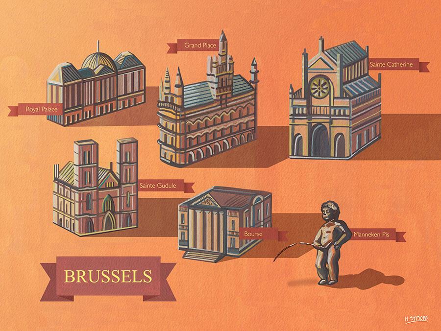 Brussels-illustrated-map