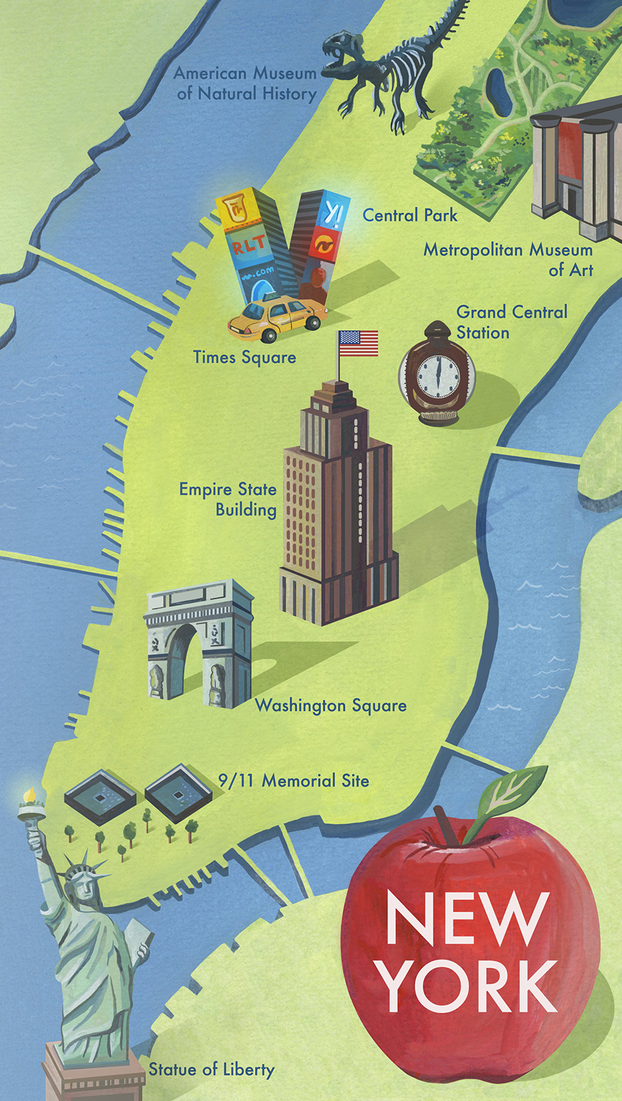 New-york-city-illustrated-map