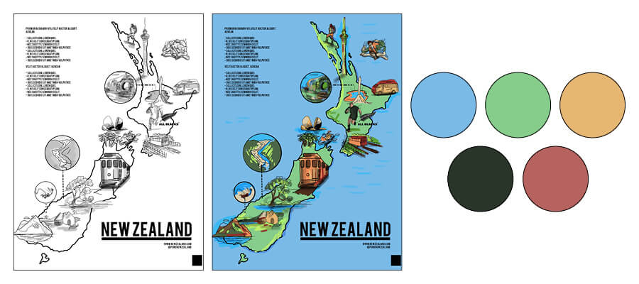 New-zealand-illustrated-map