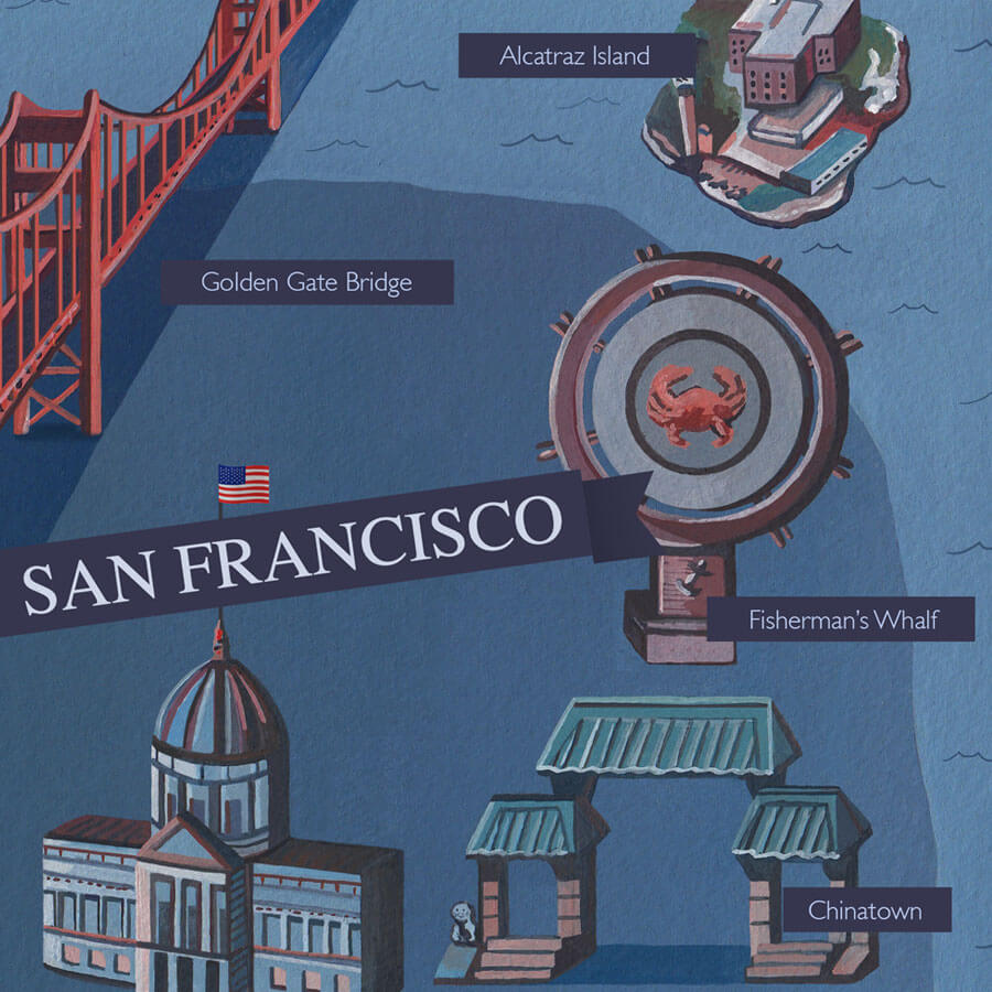 San Francisco Illustrated Map