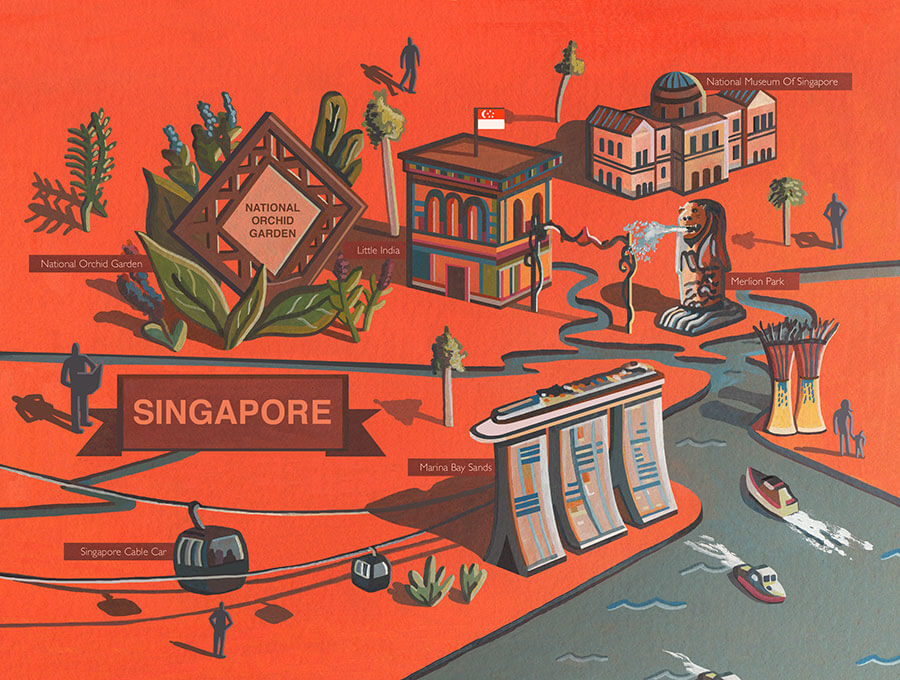 Singapore-illustrated-map