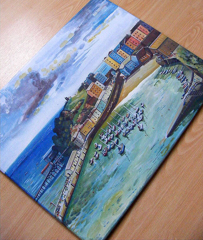Tenby-canvas-painting