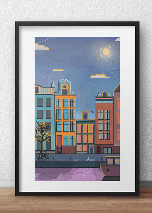 Buy the Amsterdam Art Print item