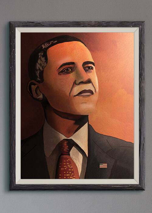 Buy the Barack Obama Art Print item