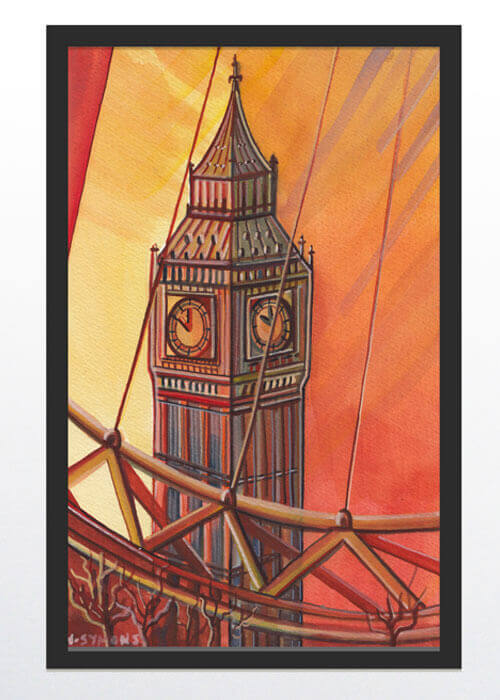 Buy the Big Ben Watercolour Painting item