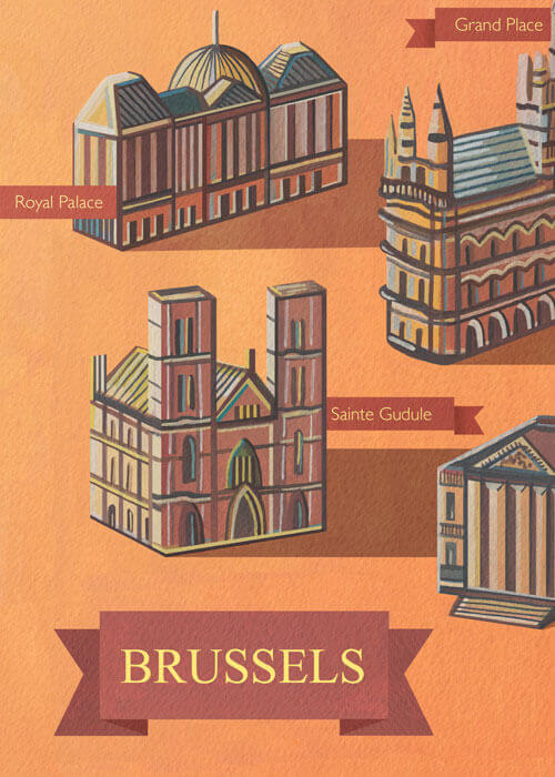 Buy the Brussels Art Print - A3 item