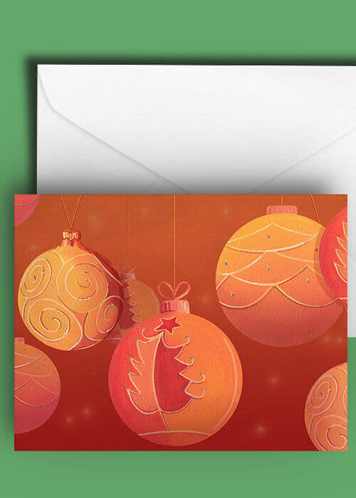 Buy the Christmas Baubles Greetings Card item