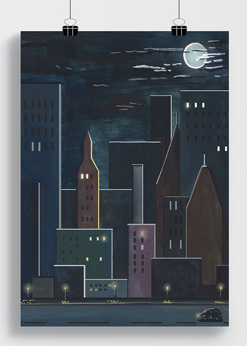 Buy the Cityscape Art Print item