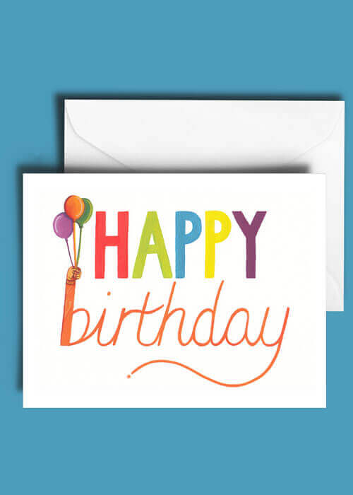 Buy the Happy Birthday Greetings Card item