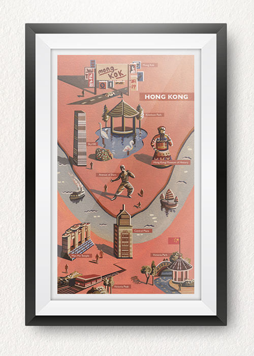 Buy the Hong Kong Art Print item