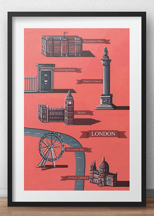 Buy the Illustrated Map Of London item