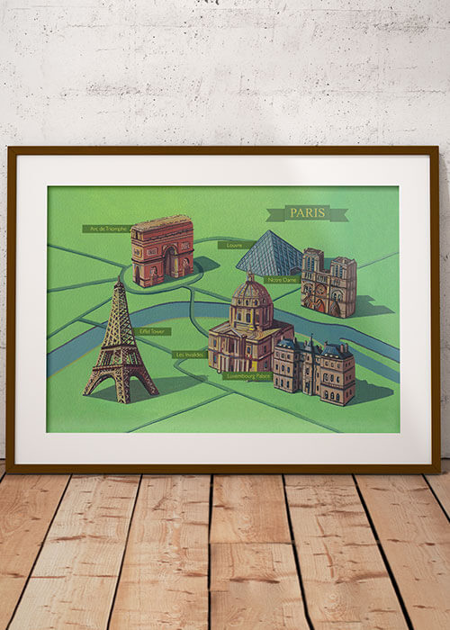 Buy the Illustrated Map of Paris item