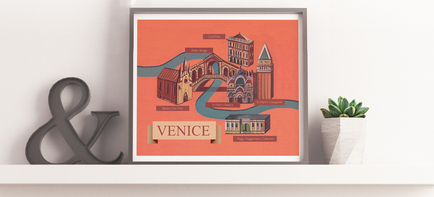 Buy the Illustrated Map Of Venice
