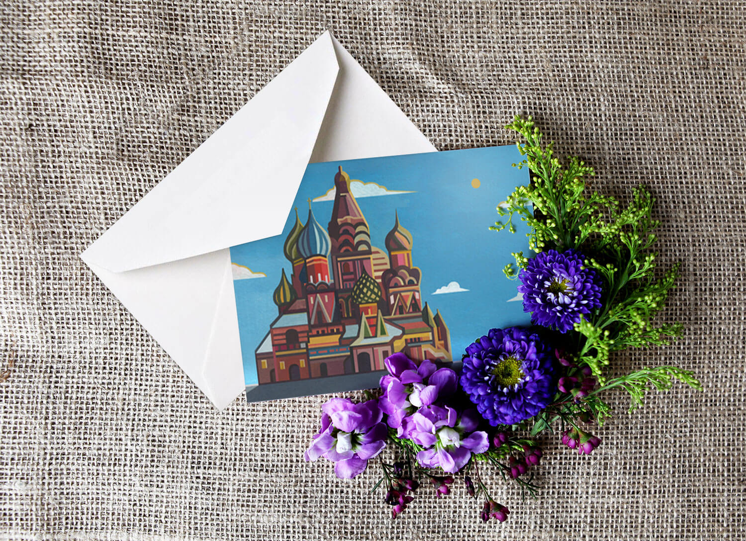 Buy the Saint Basil Cathedral Greetings Card