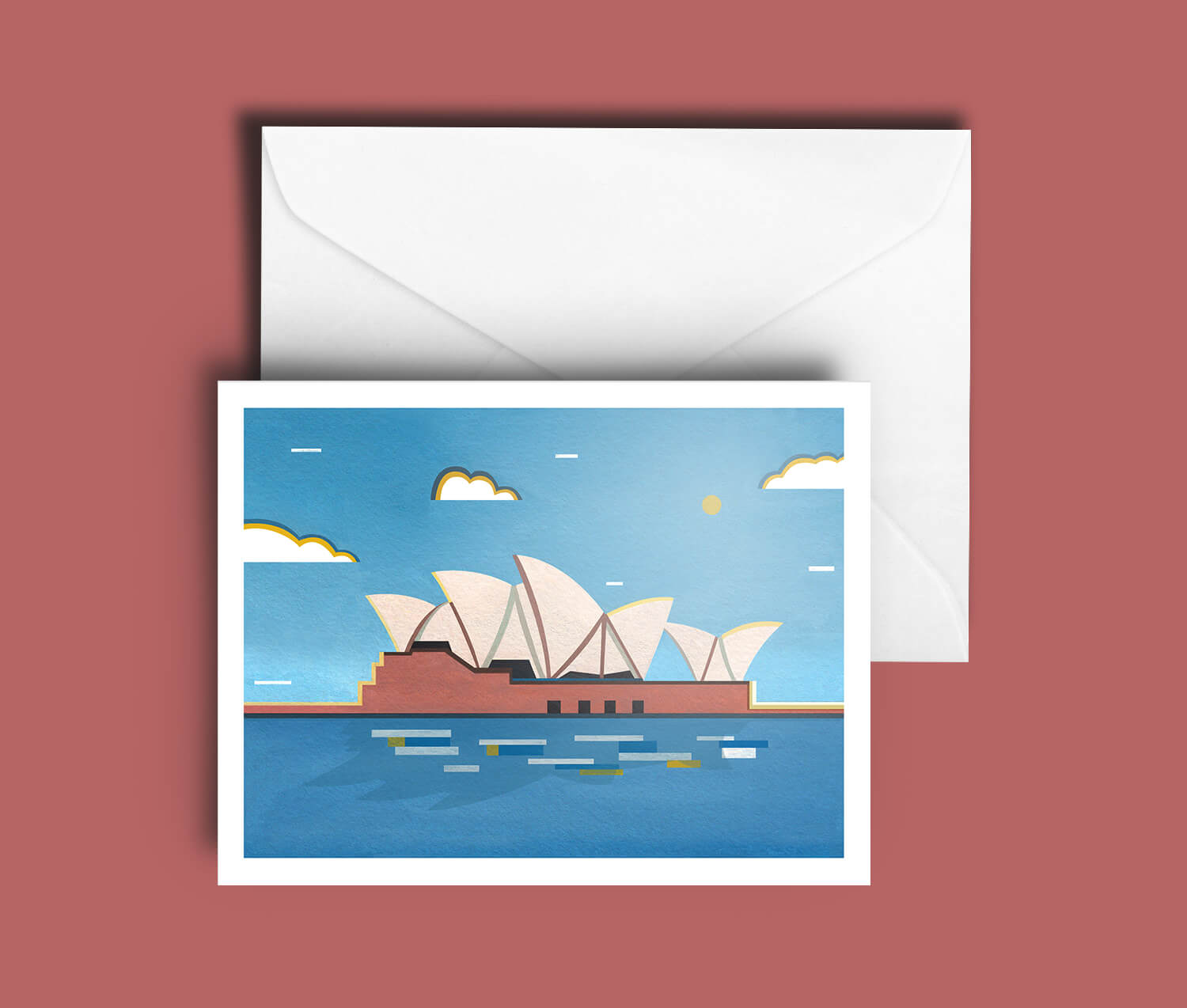 Buy the Sydney Opera House A5 Greetings Card
