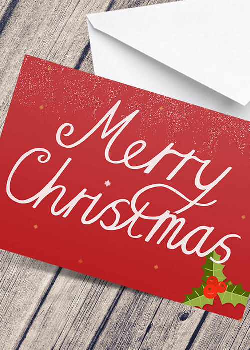 Buy the Merry Christmas Greetings Card item