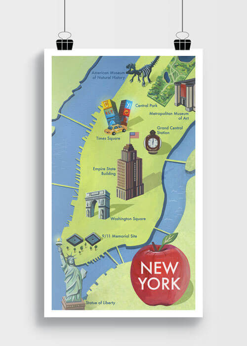 Buy the New York City Map Art Print item