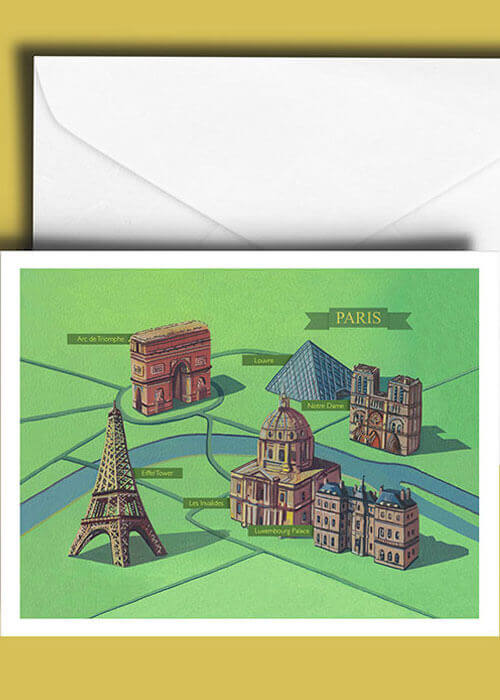 Buy the Paris Greetings Card item