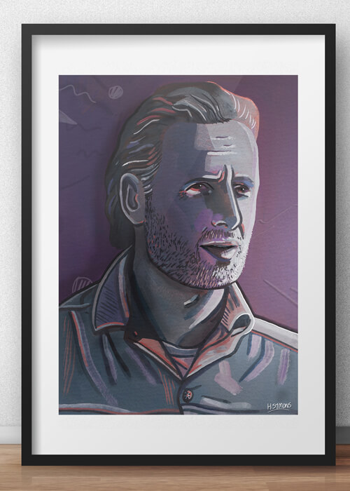 Buy the Rick Grimes Art Print item