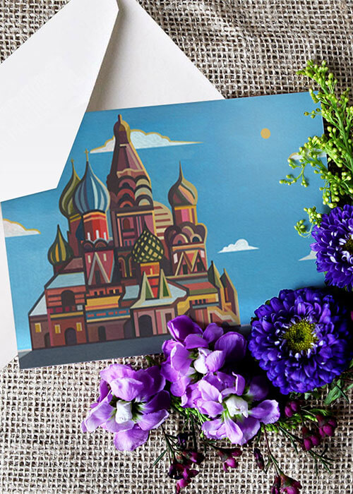 Buy the Saint Basil Cathedral Greetings Card item