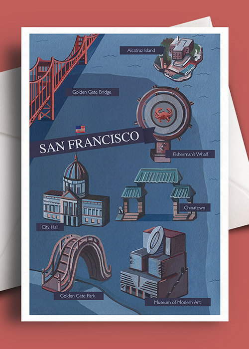 Buy the San Francisco Greetings Card item