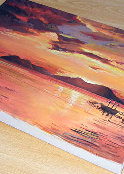 Buy the Shining Sunset Canvas Painting item
