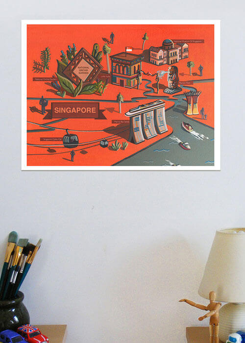 Buy the Singapore Art Print item