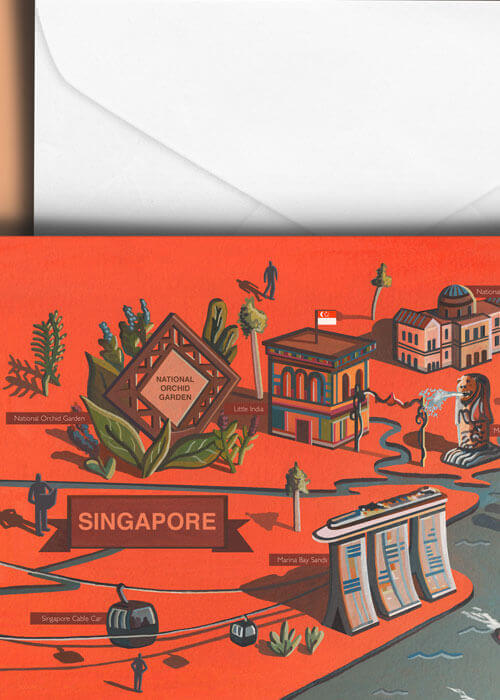 Buy the Singapore Greetings Card item