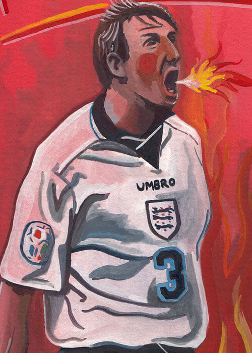 Buy the Stuart Pearce - Psycho Painting item