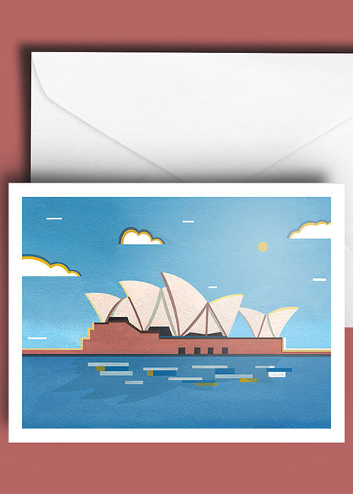 Buy the Sydney Opera House A5 Greetings Card item