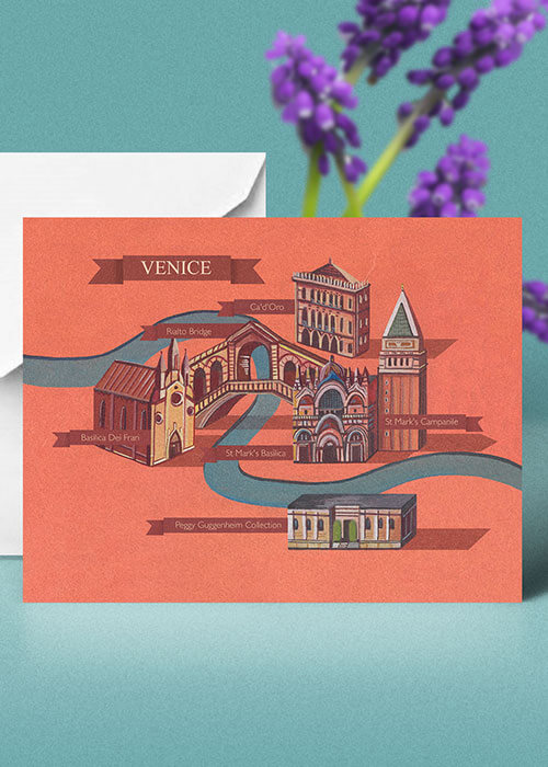 Buy the Venice Greetings Card item