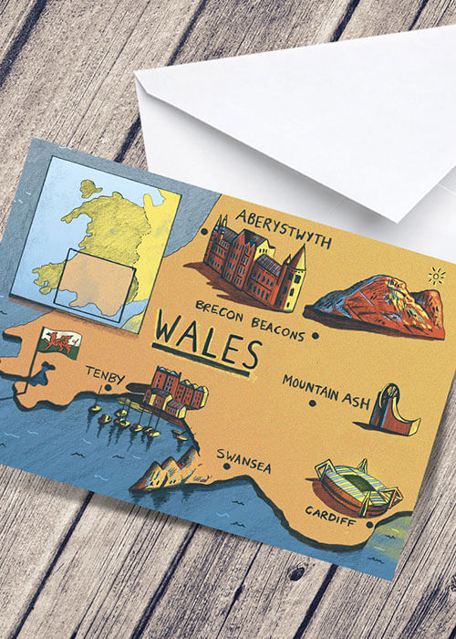 Buy the Wales Greetings Card item